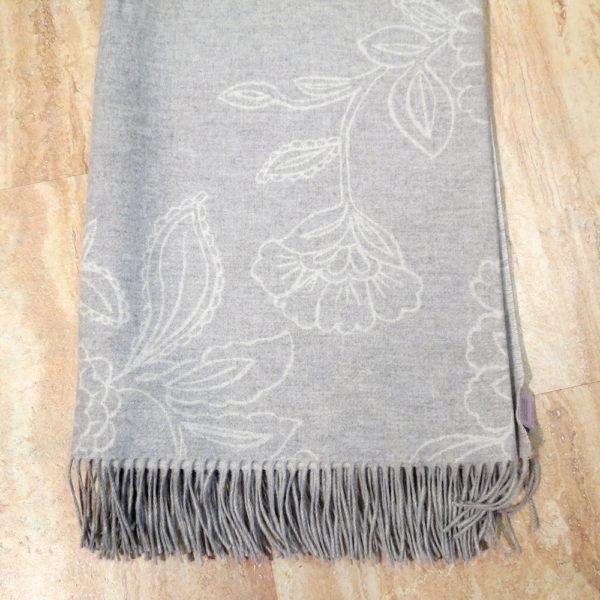 Decke «Blüte silber»