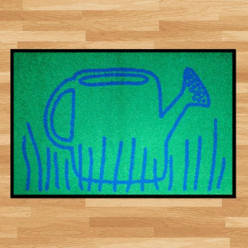 Waschbare Fussmatte «Giesskanne»