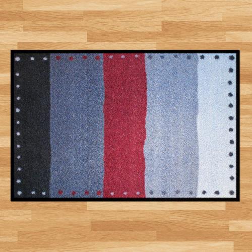 Waschbare Fussmatte «Stripes»